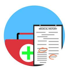 healthcare service icon vector image