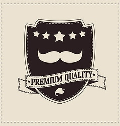 Hipster retro mustache vector image