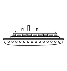 Long ship icon outline style vector image