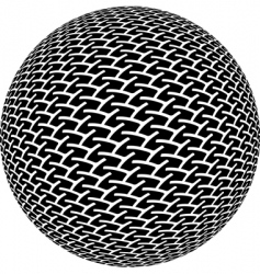 mic vector image