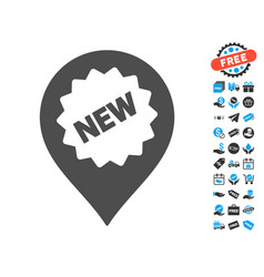 new marker icon with free bonus vector image