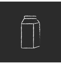 Packaged dairy product icon drawn in chalk vector image vector image