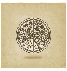 Pizza old background vector