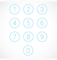 Set of number icons vector