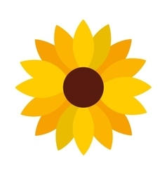Sunflower decoration isolated icon vector