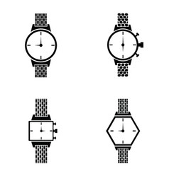 Watch icons set vector