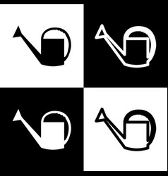Watering sign black and white icons and vector