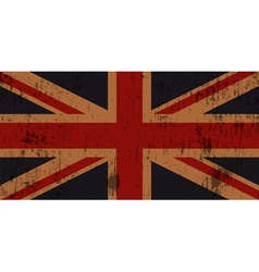 Grunge old union jack flag vector