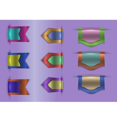 Colorful web ribbons collection vector