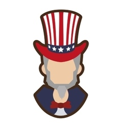 cartoon uncle sam symbol icon vector image