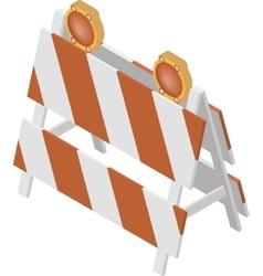 Under construction barrier vector image