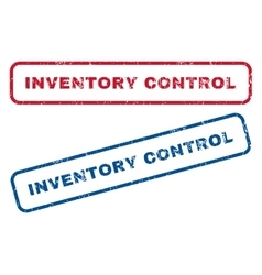 Inventory control rubber stamps vector