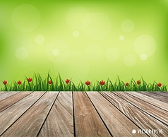 Fresh spring grass background vector
