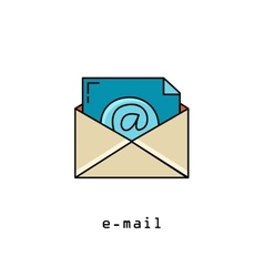 Concept representing email envelope vector