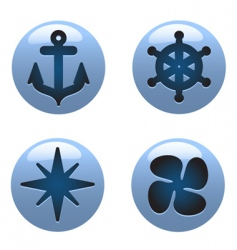 Nautical icons vector