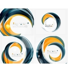 swirl line abstract background vector image