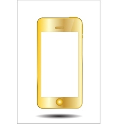 Gold mobile phone vector