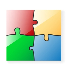 Puzzle color vector