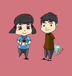 Couple flower vector