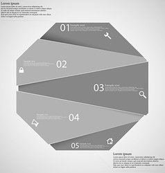 Infographic template with grey octagon randomly vector