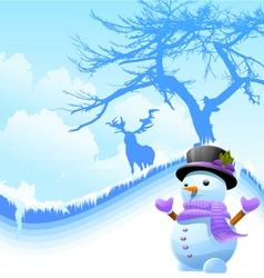 iceman with deer vector image