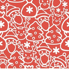seamless background for christmas vector image