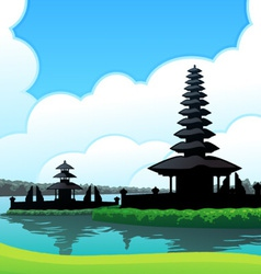 Bedugul bali background vector