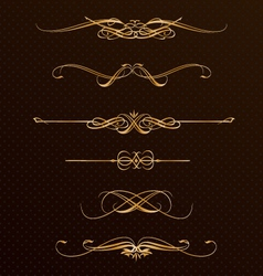 Classic golden design elements vector
