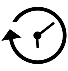 Clock and arrow icon vector