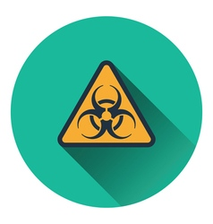 Icon of biohazard vector