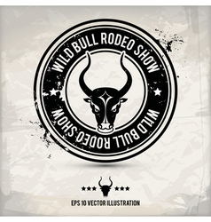 Alternative bull stamp vector