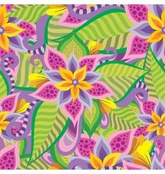 Beautiful decorative floral ornamental seamless vector image vector image