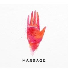Beauty natural spa hand vector