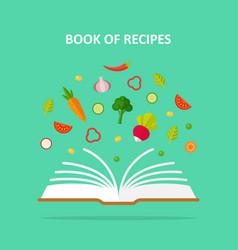 Book of recipes concept vector