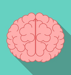 Brain with long shadow vector