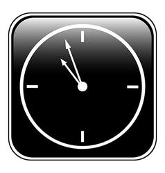 Clock button vector image vector image