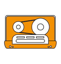 color silhouette image of tape cassette vector image