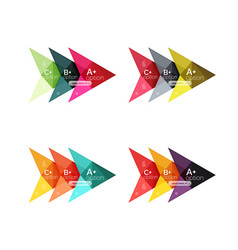 colorful arrow option infographics vector image