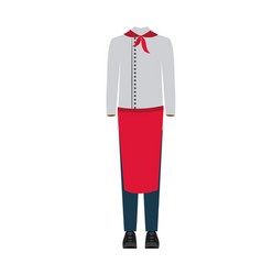 colorful silhouette with male uniform of chef vector image