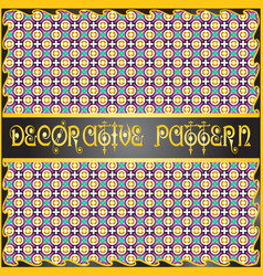 Decorative geometric colorful pattern background vector