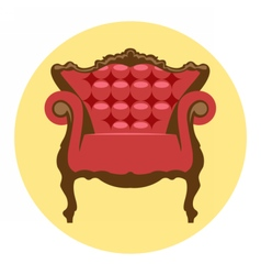Digital red and brown vintage chair vector image vector image