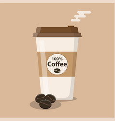 disposable coffee cup icon vector image