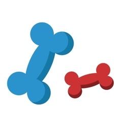 Dog bone animal food vector image