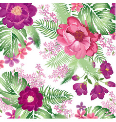floral pattern flower bouquet spring garden vector image vector image
