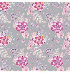 Floral vintage seamless pattern vector image vector image
