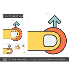 Force navigation line icon vector
