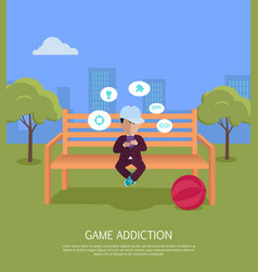 game addiction banner vector image vector image