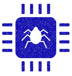 Hardware bug icon grunge watermark vector