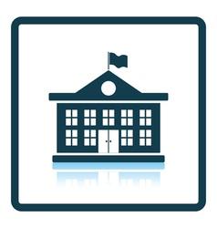 Icon of school building vector