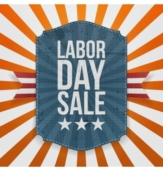 Labor day sale paper badge vector
